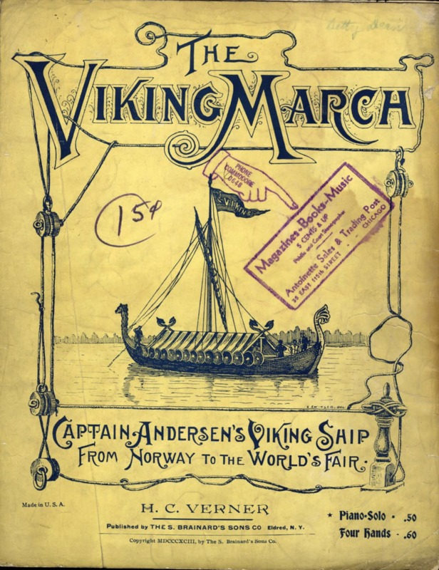 """<a href=""""/items/browse?advanced%5B0%5D%5Belement_id%5D=50&advanced%5B0%5D%5Btype%5D=is+exactly&advanced%5B0%5D%5Bterms%5D=The+Viking+March+%28sheet+music+cover%29"""">The Viking March (sheet music cover)</a>"""