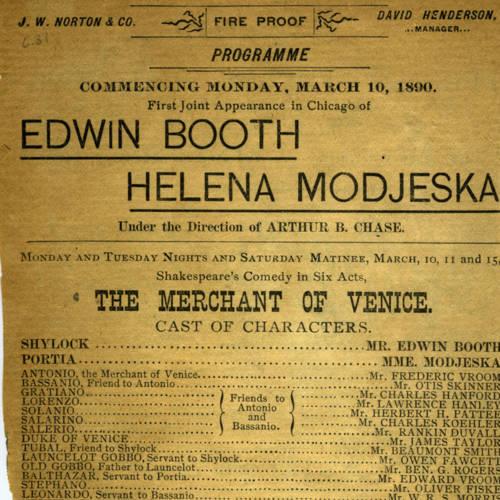 Chicago Opera House, Merchant of Venice (March 10, 1890).jpg