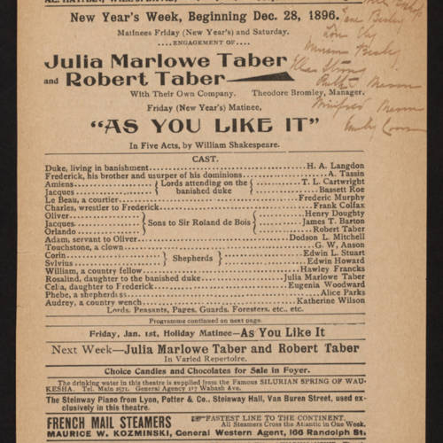 Columbia Theatre, As you like it (December 28, 1896).jpg