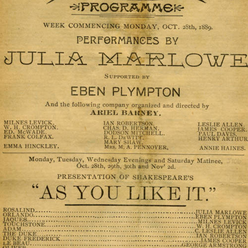 Chicago Opera House, As you like it (October 28, 1889).jpg