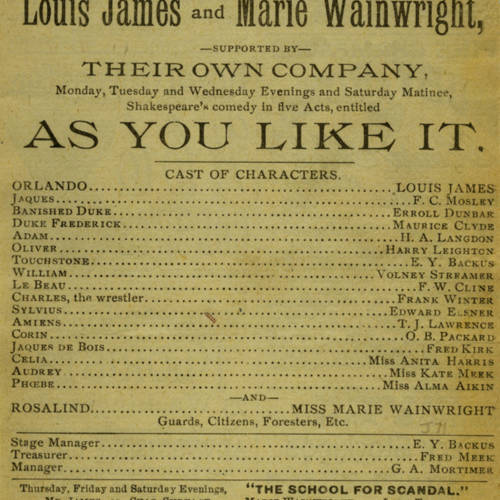 McVicker's Theatre, As you like it (March 18, 1889).jpg