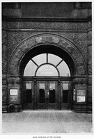 The Fine Arts Building and Annex Main Entrance-Historic Image